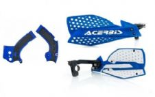 New Acerbis Frame Cover X-Grip YZF 250 450 16-18 X Ultimate HandGuards BLU BLK